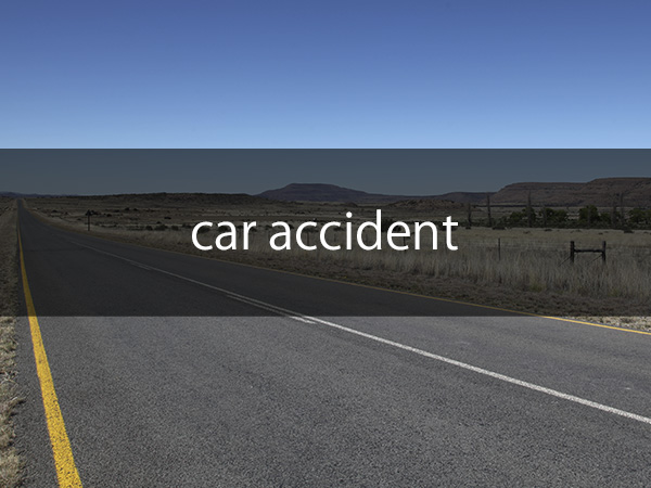 Collision with car