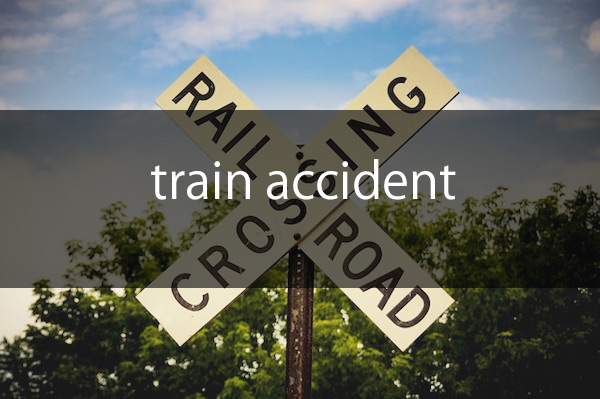 train collides with car